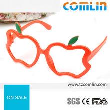 Plastic Funky Apple Shaped Kids Glasses Frame for 2014 Children