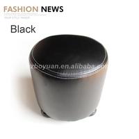 Outdoor furniture liquidation/Genuine leather sofa set/Leather ottoman pouf footstool