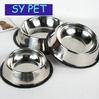 dog bowl/ Stainless steel dog bowl/ Large breed available pet bowl size dog basin of antiskid pet tableware