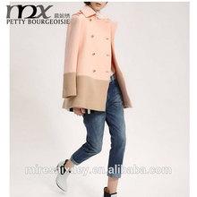 2014 europe& america top brand winter&autumn double breast fashion woolen women coat