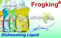 limpieza de la cocina del producto líquido para lavar platos