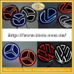 LED Car Logo 5D Polar Lights Car Emblem