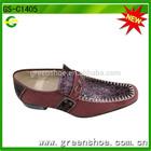 2014 new design brown color casual fashion mens dress shoe