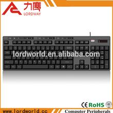 Last price usb waterproof hotkey wired keyboard