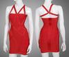 2014 wholesale fashion red sleeveless women sexy tight bandage dress