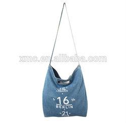 wholesale fashion and cheap custom jean canvas cloth shopping bag