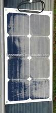High efficiency sunpower flexible solar panel 25w(TUV,IEC,ROHS,CE)