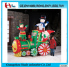 Long inflatable animated santa train,large inflatable christmas product