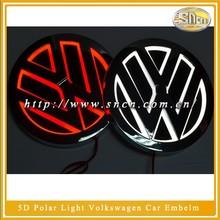 LED Car Logo 5D Polar Lights Car Emblem volkswagen emblem VW emblem