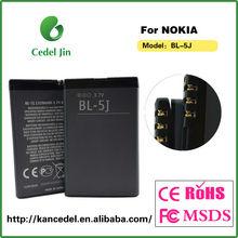 dropship wholesale battery bl-5j for nokia 3.7V battery 5900XM / C3 / N900 / X6 / X6M / X9 / X1-00