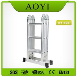 Aluminium folding ladder material,color silver/white