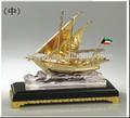 handmade moderno design de metal 3d modelo do navio banhados a ouro para a decoração e presentes