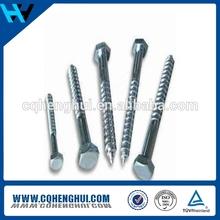 Aluminum alloy 316 black oxide finish lag screw