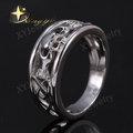 rodio plateado 925 anillos de plata esterlina ajuste sin piedra joyería al por mayor