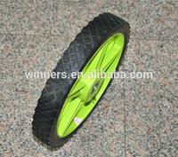16 inch plastic rim wheel,solid rubber cart tire
