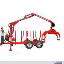 Lightweight Log Loader Trailer with crane