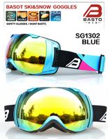 New designer style top brand customized brand straps snow photochromic ski goggles