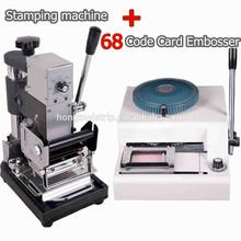 Wholesale Professional 68characters PVC Plastic Card Embosser Machine& Manual Hot Foil Stamping Machine PVC Card Tipper