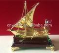 Chapado de oro de contenedores del buque modelo, metal modelo de nave, modelo de nave para decoración de hogar y regalos de recuerdo