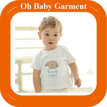 Wholesale cheap cotton baby girls and boys t shirt embroidered baby t shirt