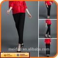 la marca de calidad superior de nuevo casual de algodón de moda mujer pantalones holgados negro