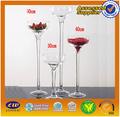 Venta al por mayor de altura vaso central/baratos florero de cristal/largo- vidrio con vástago