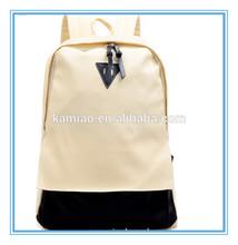 2014 bulk hot style beige black pu leather handbag waterproof laptop backpack factory China