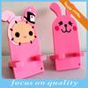 214 new developed 3D soft pvc pink multiple mobile phone holder