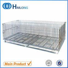 Collapsible warehouse big metal storage cage