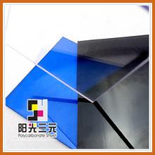 Lastra di policarbonato trasparente awinings, ondulate per coperture in plastica