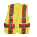 Carretera y de trabajo de seguridad advertencia de protección de algodón chaleco reflectante
