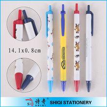 Retractable ballpoint stick pen