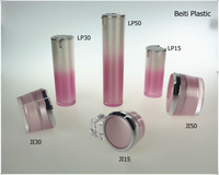 pink acrylic cosmetic packaging container
