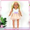 Lovely doll toys with golden hair wholesale children dolls