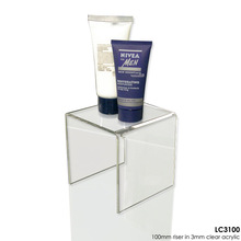 countertop high transparent acrylic skin care products display stand