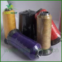 Supply silk and hemp interwoven yarns