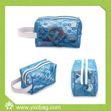 Latest Korea PVC with Mesh Cosmetic Bag/Toiletry Bag