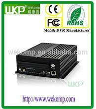 4 channel HDD MDVR color video quad splitter processor 3G WIFI GPS optional