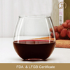 15OZ egg shaped stemless drinking wine glass with FDA certificate