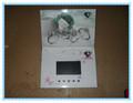 Impressão de cor cheia 2.4 polegadas lcd cartão de casamento convite para
