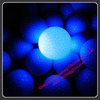Led flashing golf balls for leisure sports