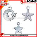 oem venda quente decorativo bonito strass morrer de corte de metal personalizado pingente em forma de estrela pingente