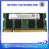 ETT chips 1gb sodimm laptop ddr2 pc5300 1.8v memory module