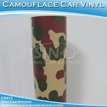 SINO CARLIKE 1.52x30M 5FTx98FT High Quality PVC Camouflage Vinyl Rolls Wholesale
