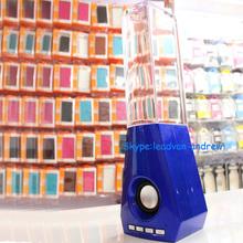 China Manufacturer Supply Colorful Led Light Large Water Dancing Speaker With Flower Bottle Shape