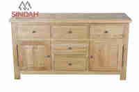 Natural Oak Wood Sideboard - oak furniture