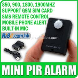 Mini MP Alert Wireless Motion Detection GSM Monitor Infrared Sensor PIR Alarm