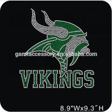 Vikings Hot Fix Rhinestone Transfers Football Designs