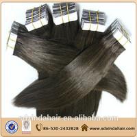 Indian hair grade 5a quality cheap price PU tape hair skin weft