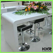 Super white artificial stone bar table for pub